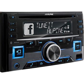 Alpine 2 Din Universal Radio USB CD με Bluetooth Θύρα AUX και Ενισχυτή Ισχύος 4 x 50 W CDE-W296BT