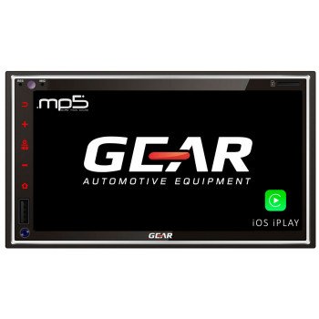 Gear Οθόνη Multimedia Αυτοκινήτου 2 Din 6.9'' με Bluetooth iOS και Android Mirroring GR-AV55BT