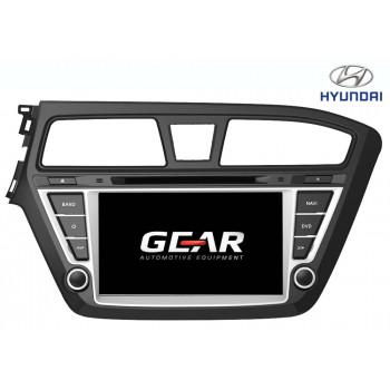 Gear 7 Ιντσών Οθόνη Εργοστασιακού Τύπου για Hyundai i20 με Navigation Bluetooth και WiFi HYUN04