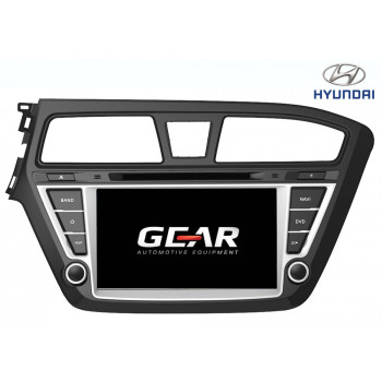 Gear 7 Ιντσών Οθόνη Εργοστασιακού Τύπου για Hyundai i20 με Navigation Bluetooth και WiFi HYUN05