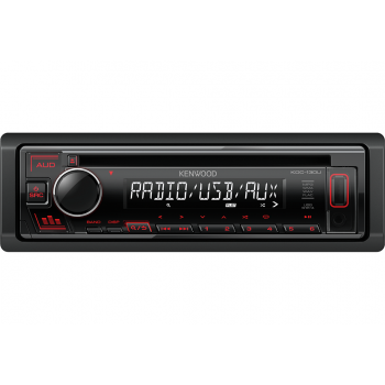 Kenwood 1 Din Universal Radio USB CD με Θύρα AUX και Ενισχυτή Ισχύος 4 x 50 W KDC-130UR