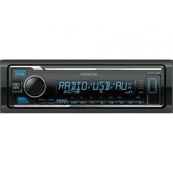 Kenwood 1 Din Universal Radio USB με Θύρα AUX και Ενισχυτή Ισχύος 4 x 50 W KMM-125