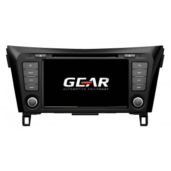 Gear 8 Ιντσών Οθόνη Εργοστασιακού Τύπου για Nissan Qashqai και Xtrail με Navigation Bluetooth και Wifi NIS02