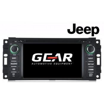 Gear 6.2 Ιντσών Οθόνη Εργοστασιακού Τύπου για Jeep Grand Cherokee και Wrangler με Navigation Bluetooth και WiFi JE01