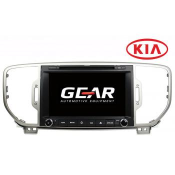 Gear 8 Ιντσών Οθόνη Εργοστασιακού Τύπου για KIA Sportage 2016 με Navigation Bluetooth και WiFi KIA08