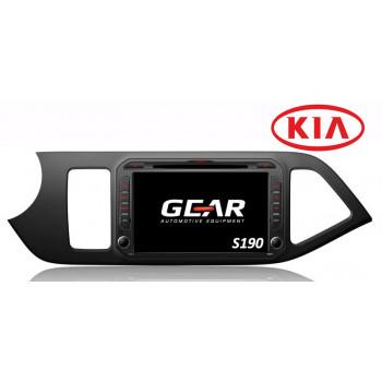 Gear 8 Ιντσών Οθόνη Εργοστασιακού Τύπου για KIA Picanto με Navigation Bluetooth και WiFi Q217I