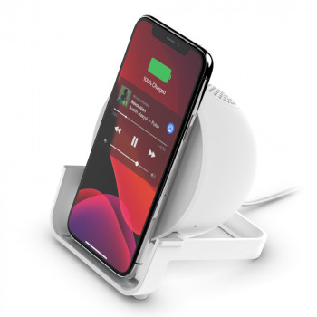 Belkin Boost Charge Άσπρος Ασύρματος Σταθμός Φόρτισης 10W με Bluetooth ηχείο