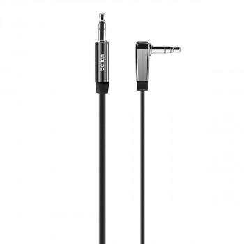 Belkin Mixit Μαύρο Καλώδιο Ακουστικών Ήχου Aux Jack Cable με γωνια 90°