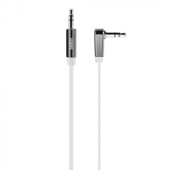 Belkin Mixit Άσπρο Καλώδιο Ακουστικών Ήχου Aux Jack Cable με γωνια 90°