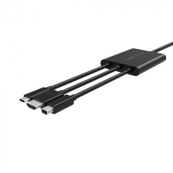 Belkin Multi Αντάπτορας Connect HDMI USB-A USB-C σε HDMI Connect Plug n Play