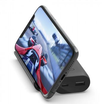 Belkin Βoost Charge Φορητό Power Bank 5000mAh με Βάση Στήριξης Κινητού και θύρες USB-C USB-A Μαύρο
