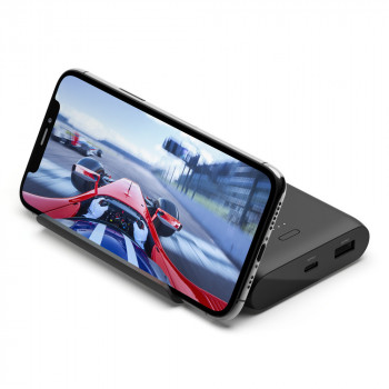 Belkin Βoost Charge Φορητό Power Bank 10000mAh με Βάση Στήριξης Κινητού και θύρες USB-C USB-A Μαύρο
