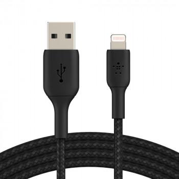 Belkin Πανίσχυρο Μαύρο Καλώδιο iPhone Lightning σε USB-A 2,0 μέτρα