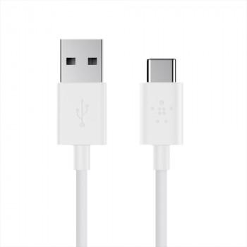 Belkin Καλώδιο Άσπρο Φόρτισης Mixit 2.0 USB-A σε USB-C