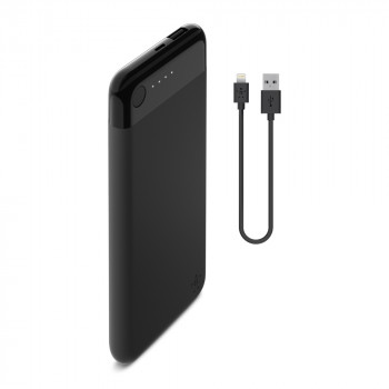 Belkin Boost Charge Φορητό Power Bank Μαύρο POWER BANK 5000mAh μαζί με καλώδιο Lightning