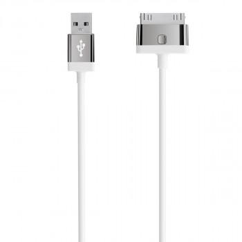 Belkin Καλώδιο Άσπρο Mixit Cablesync Apple 30-pin σε USB