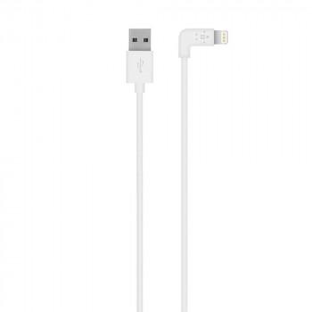 Belkin Καλώδιο Άσπρο Lightning to USB Cable με γωνια 90°