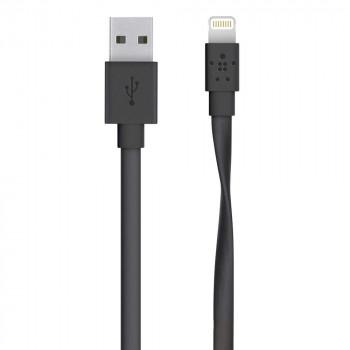 Belkin Μαύρο Επίπεδο Καλώδιο Lightning σε USB-A Cable
