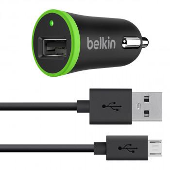 Belkin Φορτιστής Αυτοκινήτου USB μαζί με Καλώδιο Micro USB 2,4 A 12 W