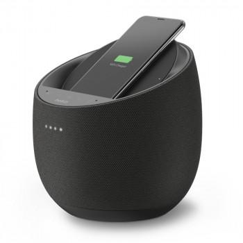 Belkin Ηχείο Soundform Elite Hi-Fi Smart Speaker 30W 90dB και Ασύρματος Φορτίστης Μαύρο Google Assisant