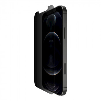 Belkin Screenforce Tempered Privacy Προστασίας Anti Microbial Μεμβράνη Προστασίας για iPhone 12 / 12 Pro