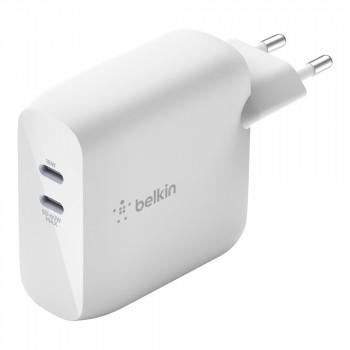 Belkin Boost Charge Φορτιστής Πρίζας GaN Διπλής Υποδοχής USB-C 63W Άσπρο