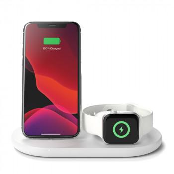 Belkin Boost charge Ασύρματος Σταθμός Φόρτισης 3 σε 1 για iPhone + Apple Watch  + Air Pods Άσπρο