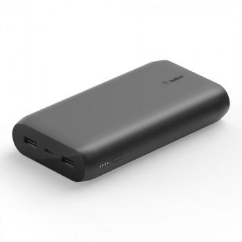 Belkin Pocket Power Φορητό Μαύρο PowerBank 20000 mAh με USB-A X2 και USB-C Μαύρο
